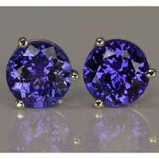 tanzanite earrings earrings blue violet color 4 20 carats