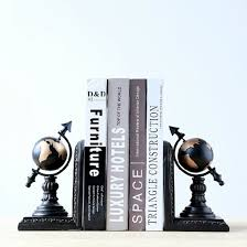 Decorative Crafts For Home Mylifeunit Globe Bookends For Shelves Resin Bookends Decorative