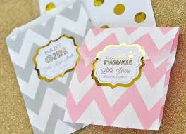 personalized baby shower favors metallic foil baby shower favors