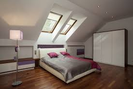comfortable attic bedroom design ideas with minimalist interior