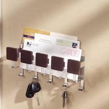 interdesign formbu mail letter holder key rack organizer for