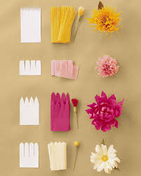 paper flowers how to make crepe paper flowers martha stewart
