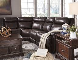 Leather Sectional Sofa With Power Recliner Contemporary Leather Match Power Reclining Sectional With Console