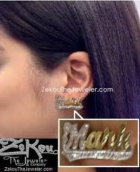 Personalized Name Earrings Name Plate Jewelry Nameplate Jewelry Name Earring Nameplate