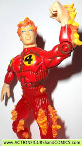 marvel super heroes toy biz human torch fire ice fantastic 4