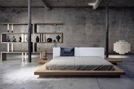 print of low profile platform bed frame displaying interesting