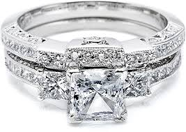Tacori Wedding Rings by Tacori Contoured Channel Set Princess Cut U0026 Pave Diamond Band Ht2264b