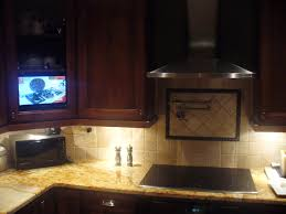 concrete countertops under cabinet tv for kitchen lighting