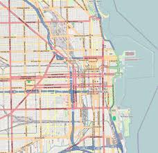 chicago map streets file chicago central map png wikimedia commons
