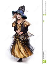 fairy tales halloween costumes adorable little blond wearing a witch costume smiling at the