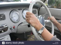 nissan figaro the dash board of a nissan figaro stock photo royalty free image