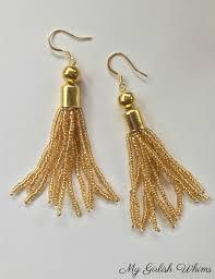 earrings diy diy beaded tassel earrings my girlish whims