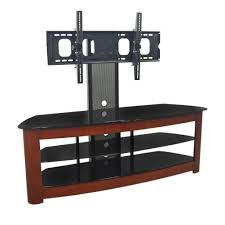 Modern Tv Stands For Flat Screens Modern Open Shelves Media Cabinet With Mounted Flat Screen Tv Of
