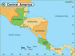 map central map of central america travelquaz