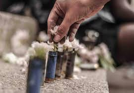 bullet flowers tear gas pepper spray rubber bullets and stun grenades the