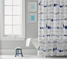 shark shower curtain navy pillowfort kid bathrooms shark and