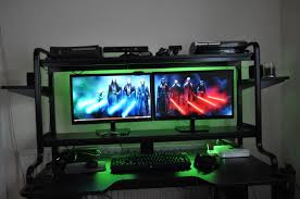 Gaming Desk Setups by Desk Gaming Desk Ikea Regarding Impressive Battle Station Gaming