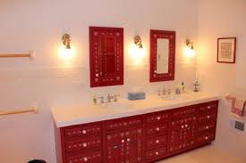 Red Bathroom Cabinets Vancouver Red Bathroom Vanity Contemporary With Picture Window
