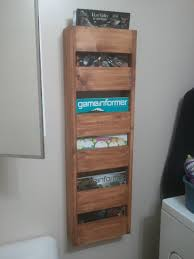 furniture modern storage furniture built in magazine rack pine
