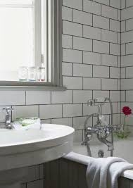 Gray Subway Tile Bathroom by 15 Best White Subway Tile Grey Grout Images On Pinterest White