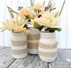 Vases With Fake Flowers Fall Jars With Dollar Store Flowers Crafting In The Rain