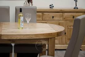 Kitchen Table Close Up Coniston Rustic Solid Oak Large Oval Extending Dining Table Oak
