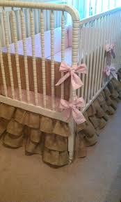 Baby Crib Bed Skirt Burlap Crib Skirt Bazaraurorita