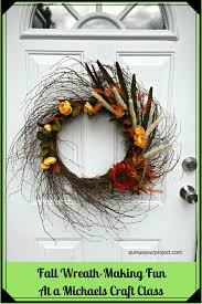 fall wreath making fun at a michaels craft class pursue your project