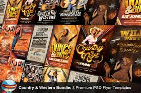 free halloween flyer background country u0026 western psd flyer bundle flyer templates creative market