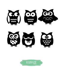 owl svg files owl clipart 6 owl designs svg and png