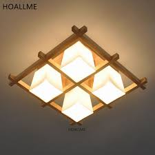 Japanese Ceiling Light Japanese Style Wooden Frame Led Ceiling Light Ls Fixture Living