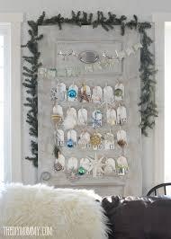 make a daily ornament advent calendar from an door the diy
