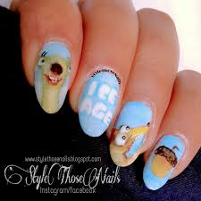 style those nails ice age movie inspired nails