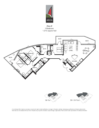 aria 3 bedroom u2013 plan
