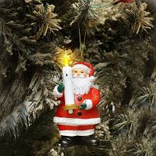 amazon com mr christmas goodnight lights santa ornament