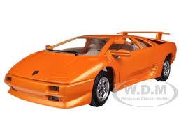 lamborghini diablo orange bburago 22086 lamborghini diablo orange 1 24 diecast car model ebay