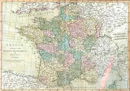 Alsace Lorraine Map Antique Maps Of France