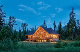 Montana scenery images A remote montana log home jpg