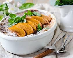 cuisiner les peches recette flan aux pêches et mascarpone facile rapide