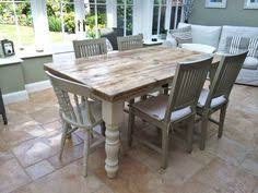 Shabby Chic White Dining Table by Large Chunky 6ft Pine Dining Table 8 Seater 5 Chairs And Bench