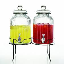 furniture beverage dispenser with stainless steel lids for