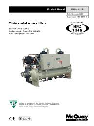 pfsb mcquay manual r 134a 01 pdf gas compressor heat exchanger