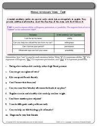 worksheet modal auxiliary verb can determine how u201ccan u201d is
