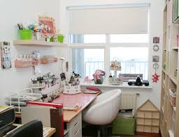 Creative Diy Bedroom Storage Ideas Small Simple And Cute Craft Room Storage With Pink Wooden Table