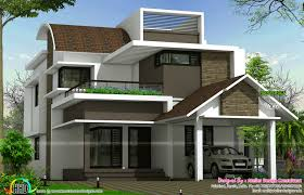 curved roof mix contemporary 2620 sq ft home kerala home design