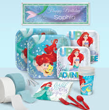 little mermaid birthday party supplies theme party packs