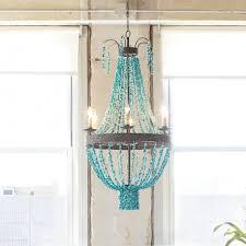 turquoise beaded chandelier d46cm replica item blue turquoise six light chandelier
