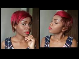 can you sew in extensions in a pixie hair cut short hairstyle weave sew in pixie cut youtube