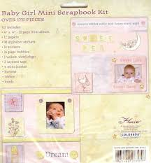 colorbok scrapbook baby girl mini scrapbook album kit colorbok
