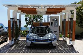 bmw presents solar carport concept for i cars autoevolution bmw solar carport concept bmw solar carport concept